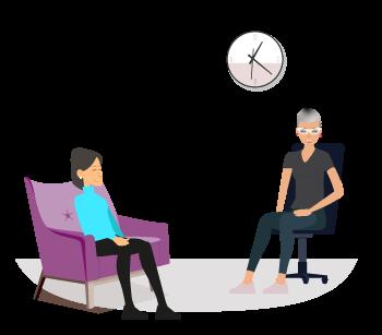 Le client travaille avec le praticien pour réaliser ces exercices à chaque séance